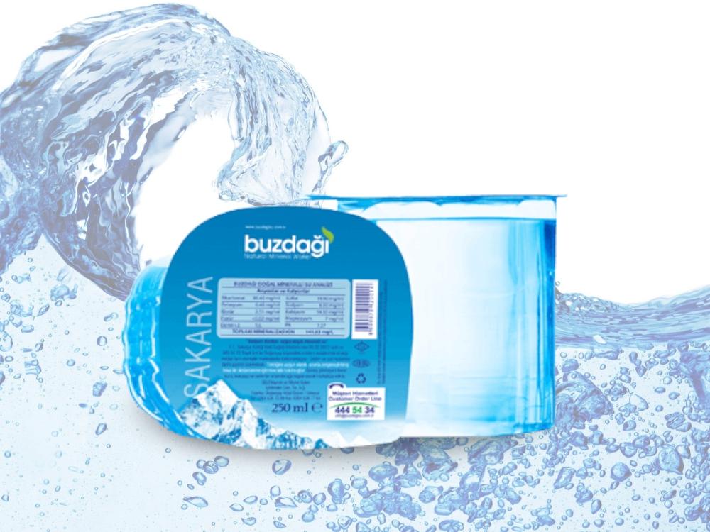 Buzdağı 0,18 lt. Pet Bardak Su (60 Adet)